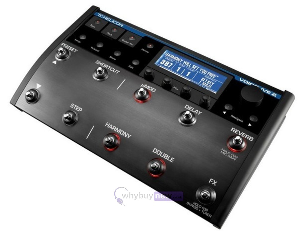 tc helicon voicelive 2 vocal effects pedal whybuynew. Black Bedroom Furniture Sets. Home Design Ideas
