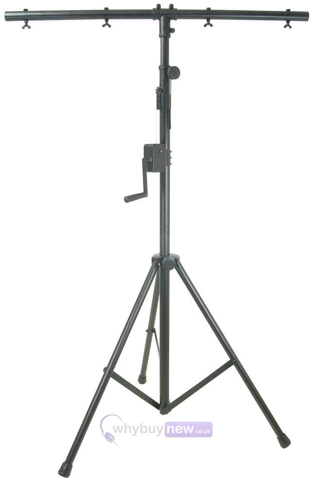 Qtx heavy duty winch t bar lighting stand aloadofball Choice Image