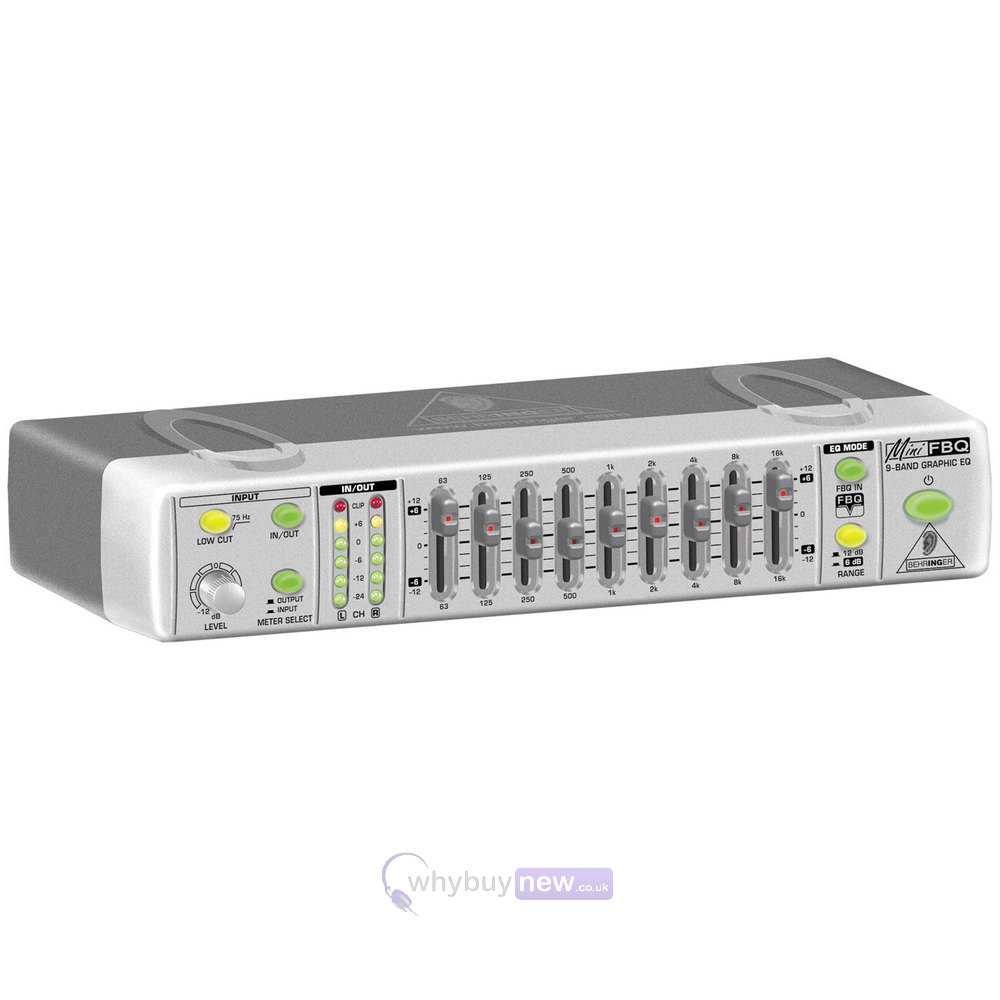 Behringer Silver Ultra Compact Graphic Equalizer FBQ800