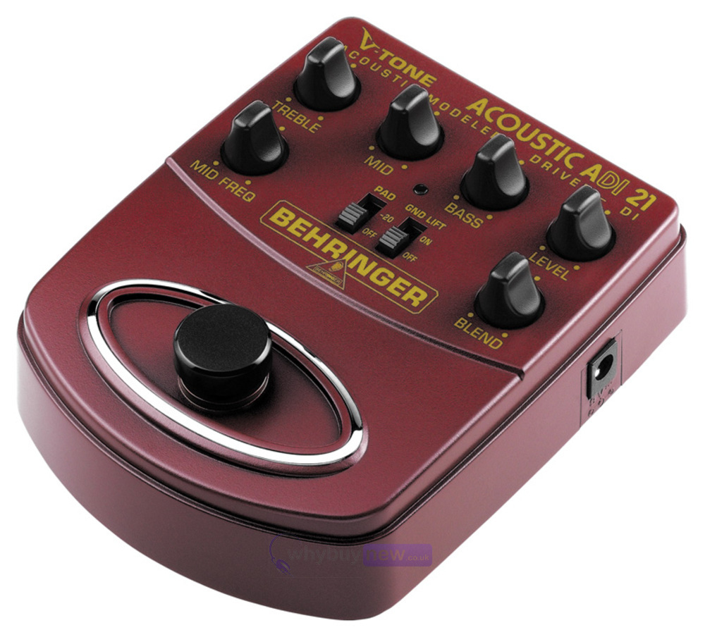 behringer adi21 acoustic guitar preamp di effects pedal whybuynew. Black Bedroom Furniture Sets. Home Design Ideas