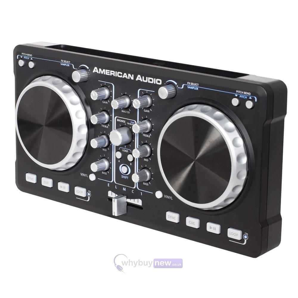 american dj elmc1 dj controller buy digital dj controllers at whybuynew. Black Bedroom Furniture Sets. Home Design Ideas