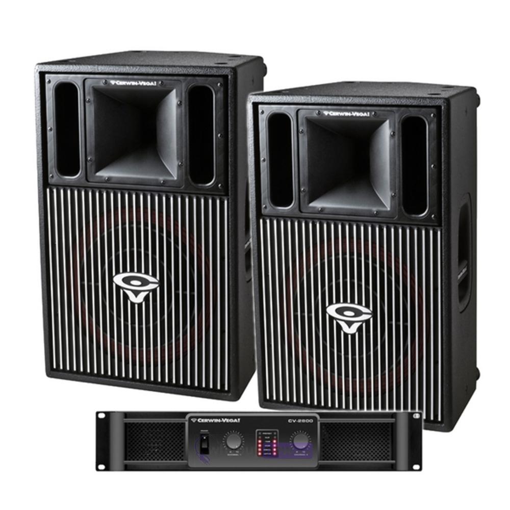 Cerwin Vega CVP1152 Speakers & CV2800 Amp
