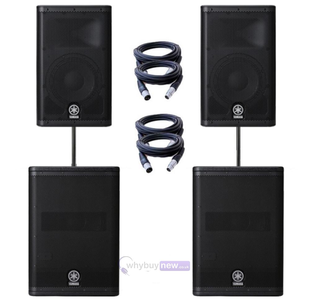 Yamaha Dxr12 Speakers Amp Dxs15 Sub Package