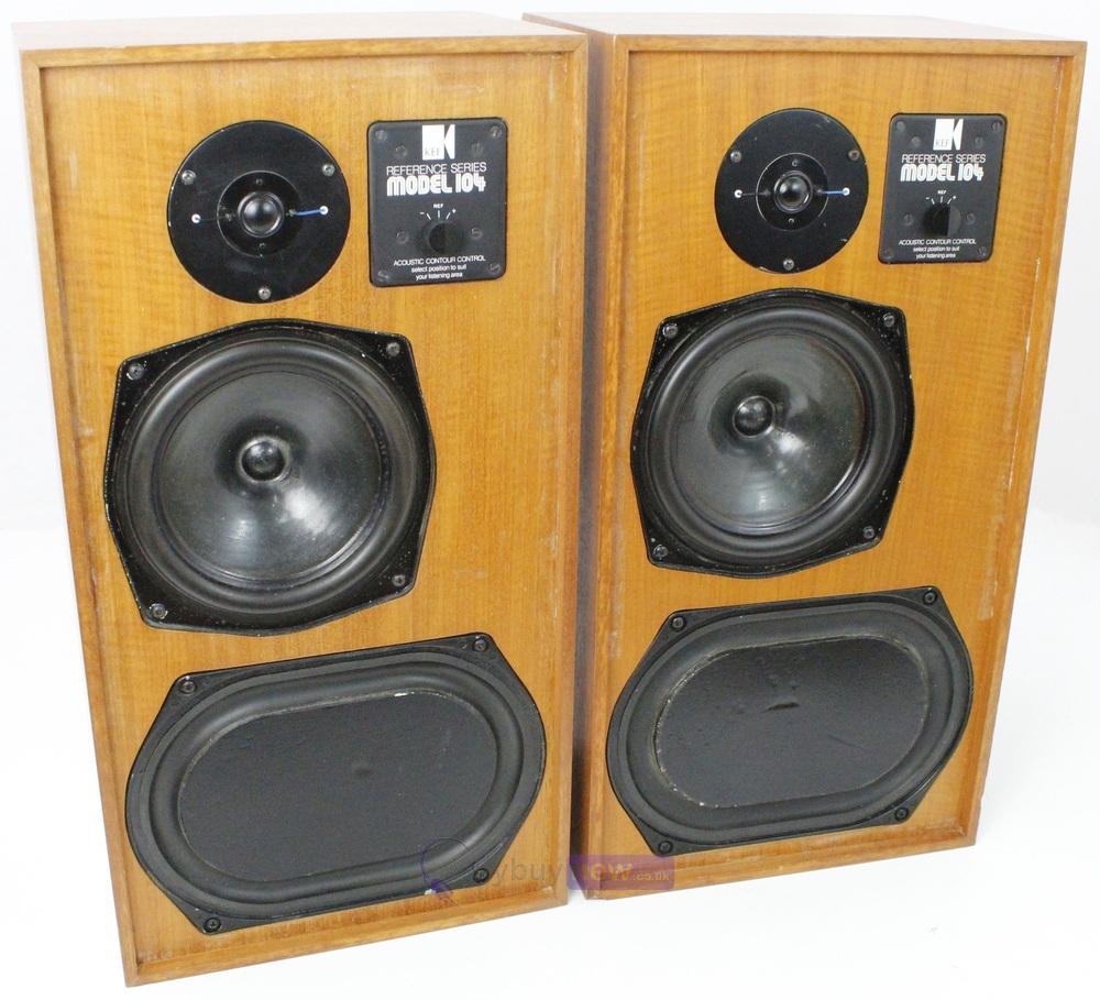 Vintage Kef Reference Series Model 104 Main Stereo Speakers (Pair)