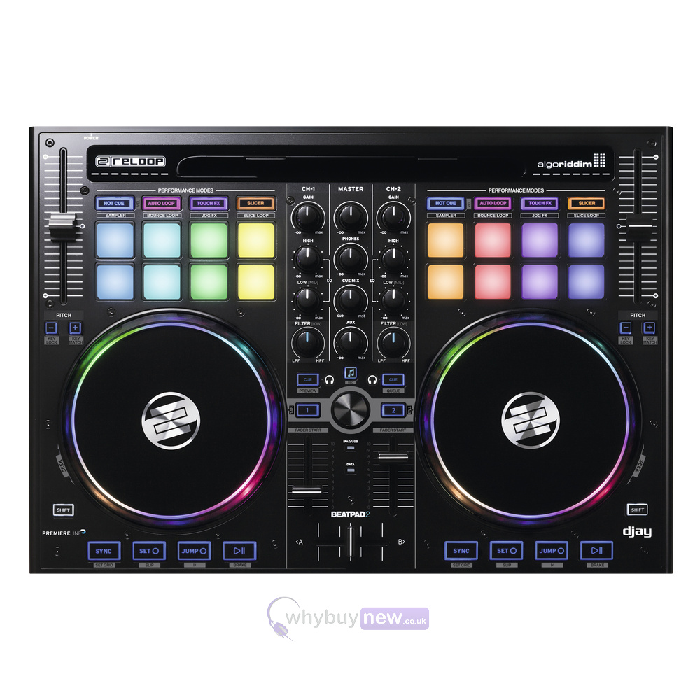 reloop beatpad 2 digital dj controller. Black Bedroom Furniture Sets. Home Design Ideas