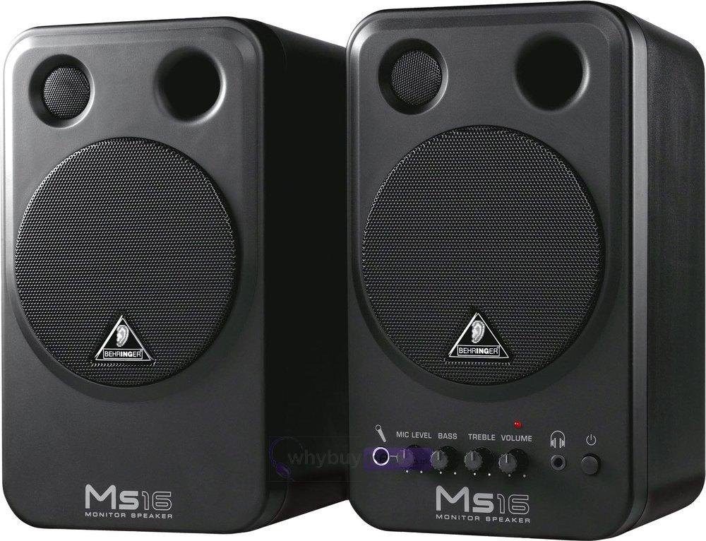 behringer ms16 active studio monitor speakers pair. Black Bedroom Furniture Sets. Home Design Ideas