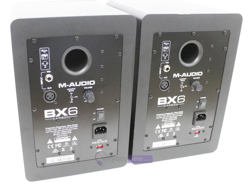 m audio bx6 carbon active studio monitors pair whybuynew. Black Bedroom Furniture Sets. Home Design Ideas