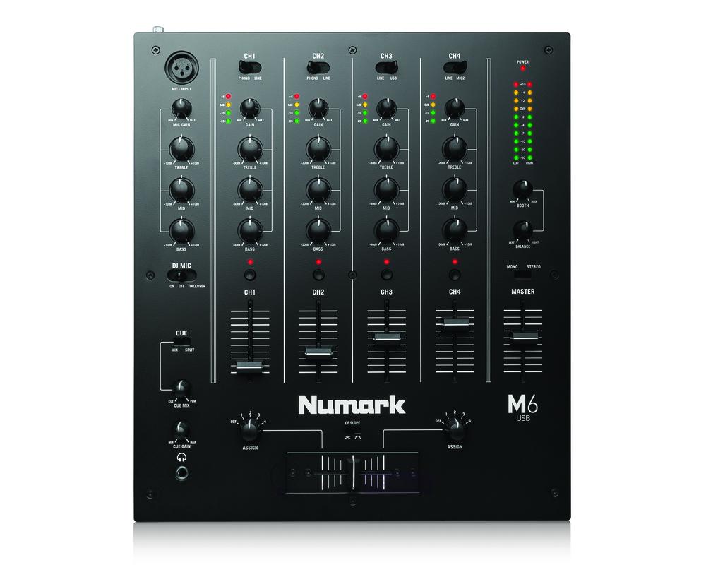 numark m6 usb 4 channel dj mixer. Black Bedroom Furniture Sets. Home Design Ideas