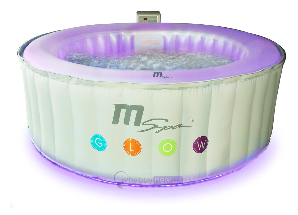 Mspa Glow Alpine Lite Inflatable Led Glow Jacuzzi Spa