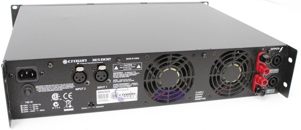 crown xls602 power amplifier whybuynew. Black Bedroom Furniture Sets. Home Design Ideas