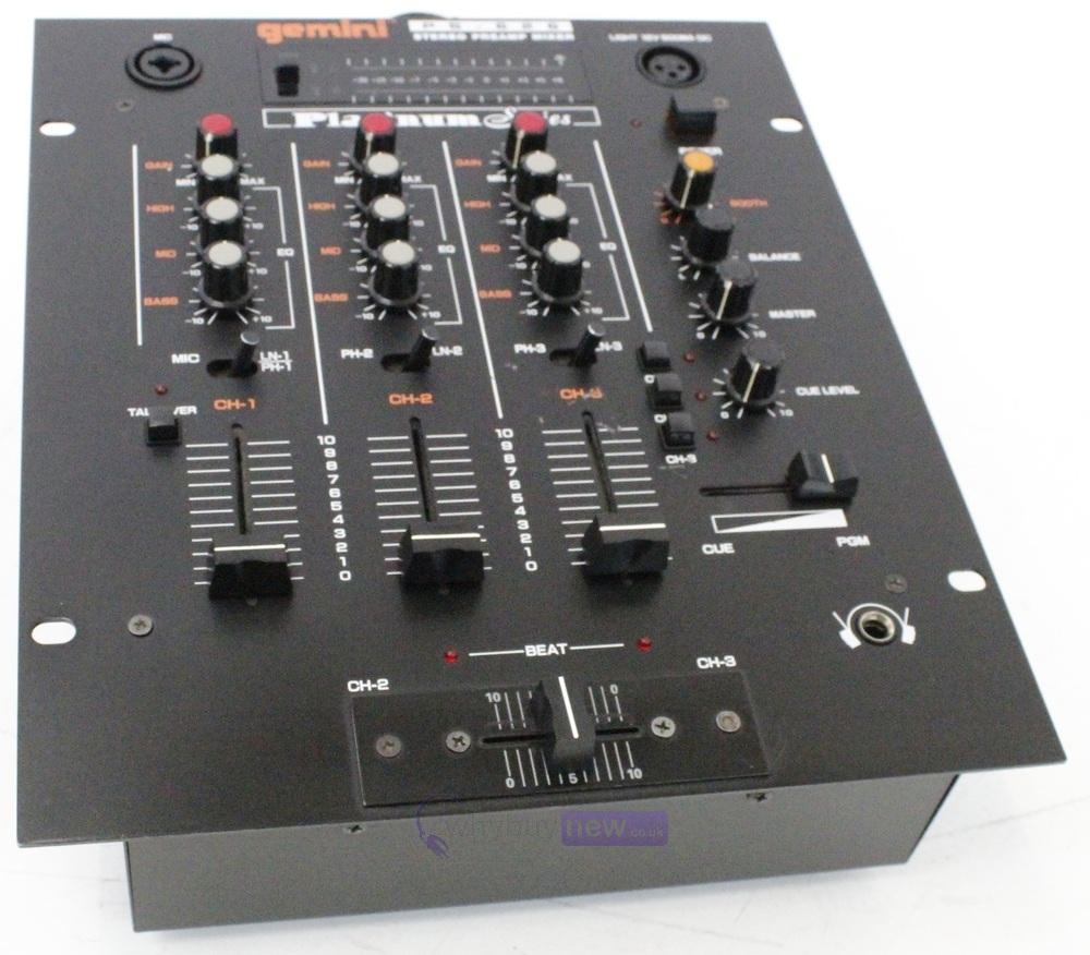 dj equipment dj mixers gemini ps 626 dj mixer whybuynew. Black Bedroom Furniture Sets. Home Design Ideas