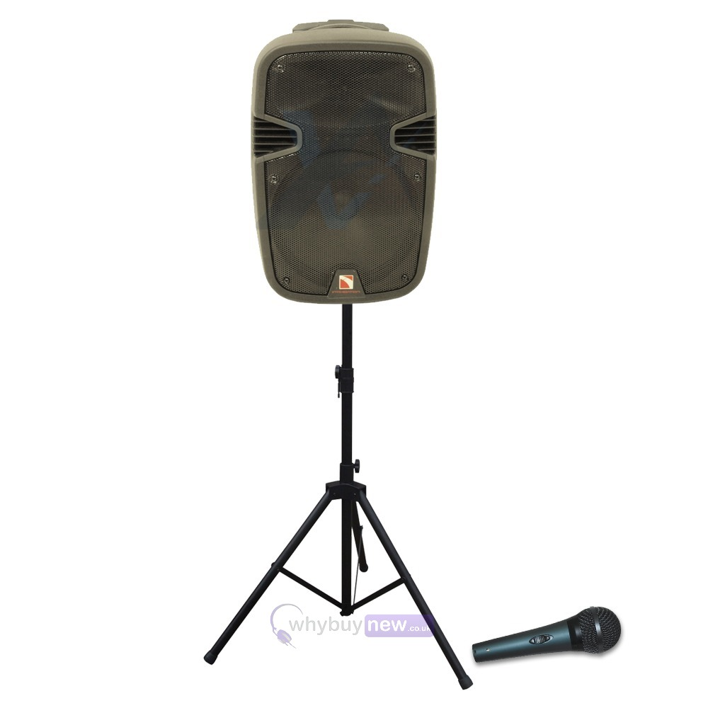 portable 12 usb mp3 bluetooth pa speaker with mic stand. Black Bedroom Furniture Sets. Home Design Ideas