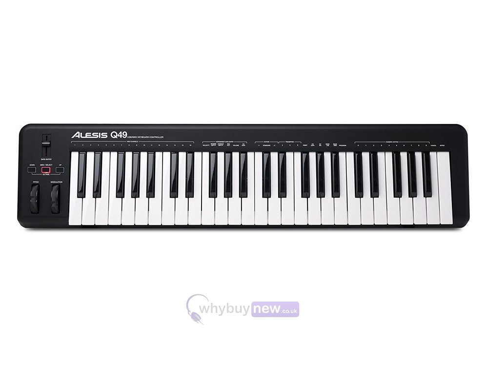 alesis q49 49 key usb midi keyboard controller. Black Bedroom Furniture Sets. Home Design Ideas