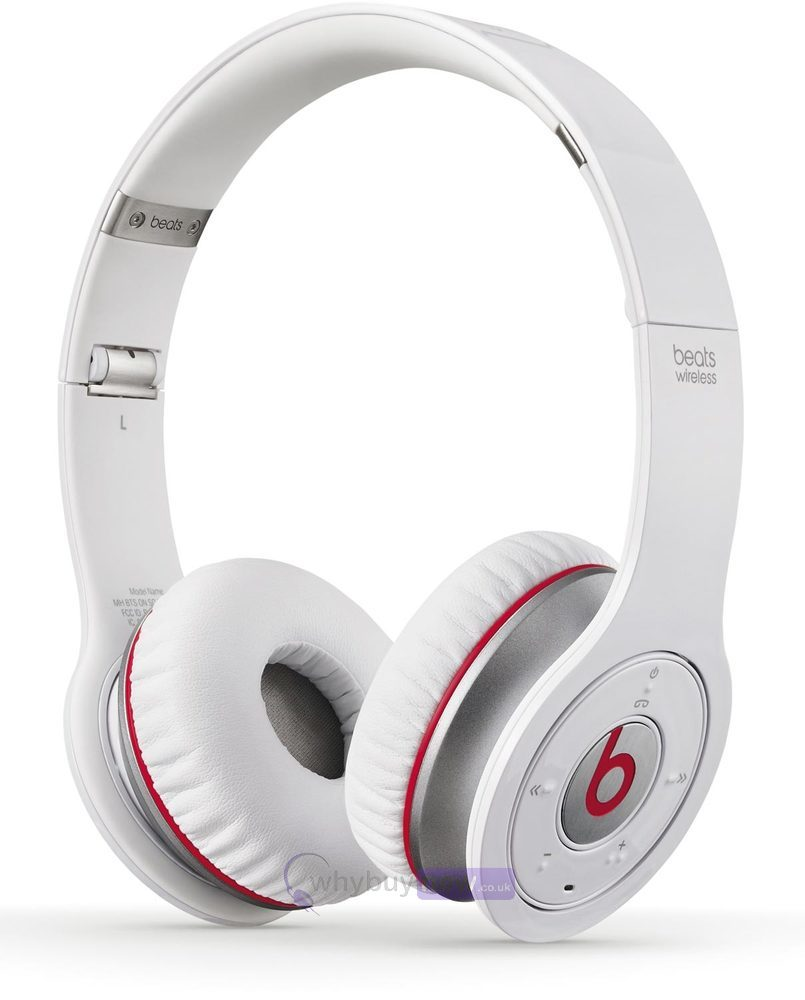 Beats By Dr Dre Wireless On-Ear Headphones White  8ff96b4d9d63