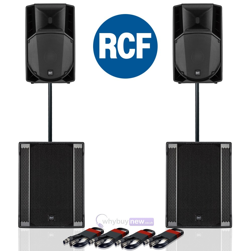 RCF Art 715-A MK4 PA Speaker (Pair) + RCF Sub 708-AS II (Pair)