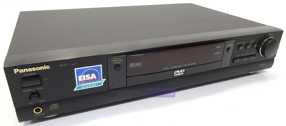 panasonic dvd a350e dvd cd video cd player whybuynew. Black Bedroom Furniture Sets. Home Design Ideas
