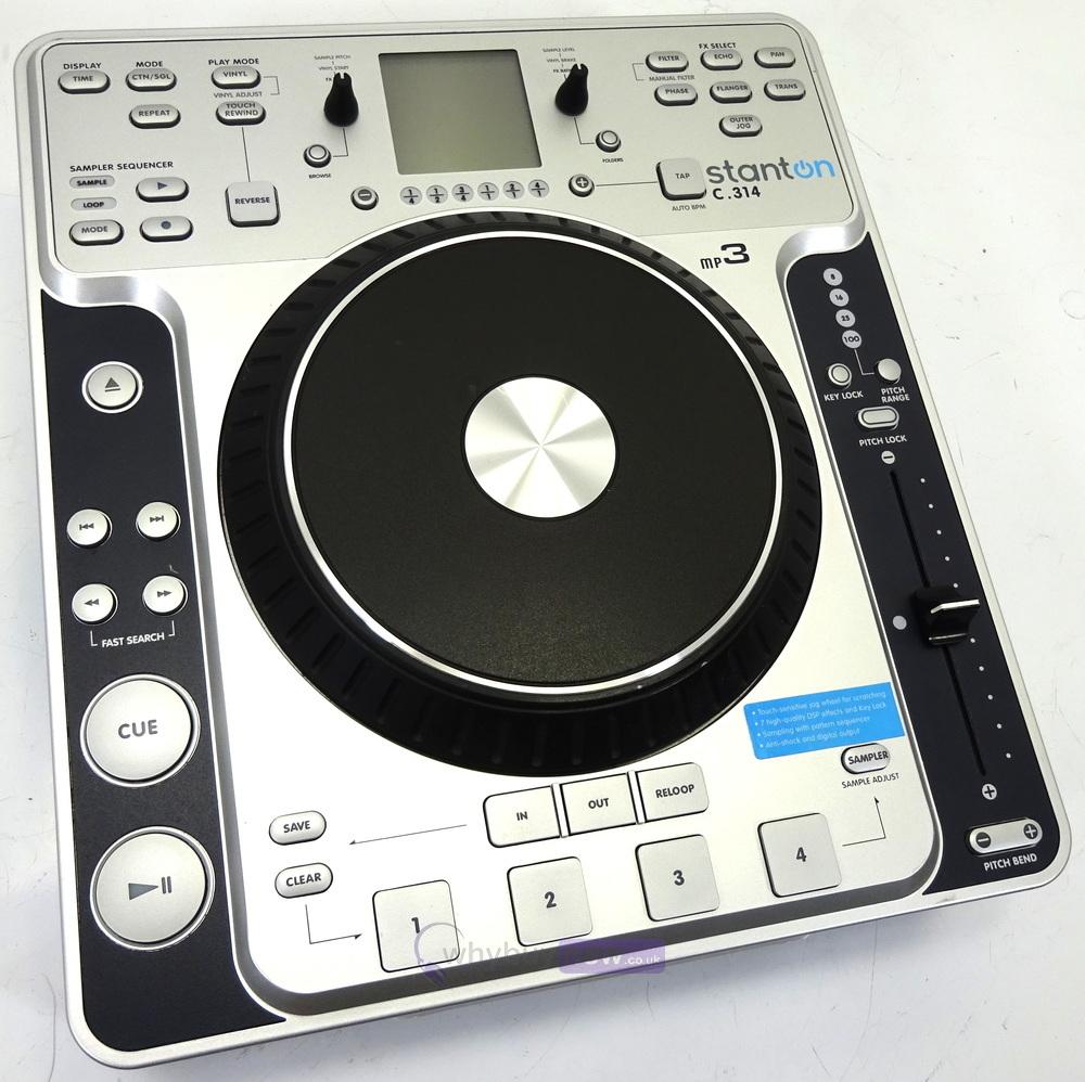 stanton c314 scratch dj cd player stanton c 314