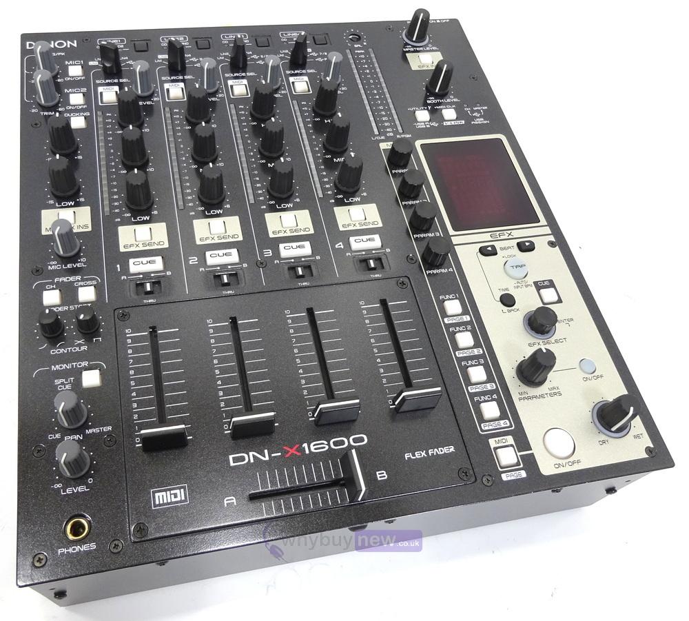 dj equipment dj mixers denon dn x1600 mixer whybuynew. Black Bedroom Furniture Sets. Home Design Ideas