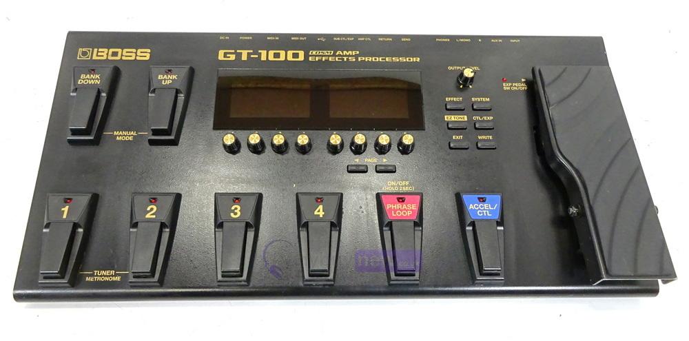 boss gt 100 guitar effects processor whybuynew. Black Bedroom Furniture Sets. Home Design Ideas