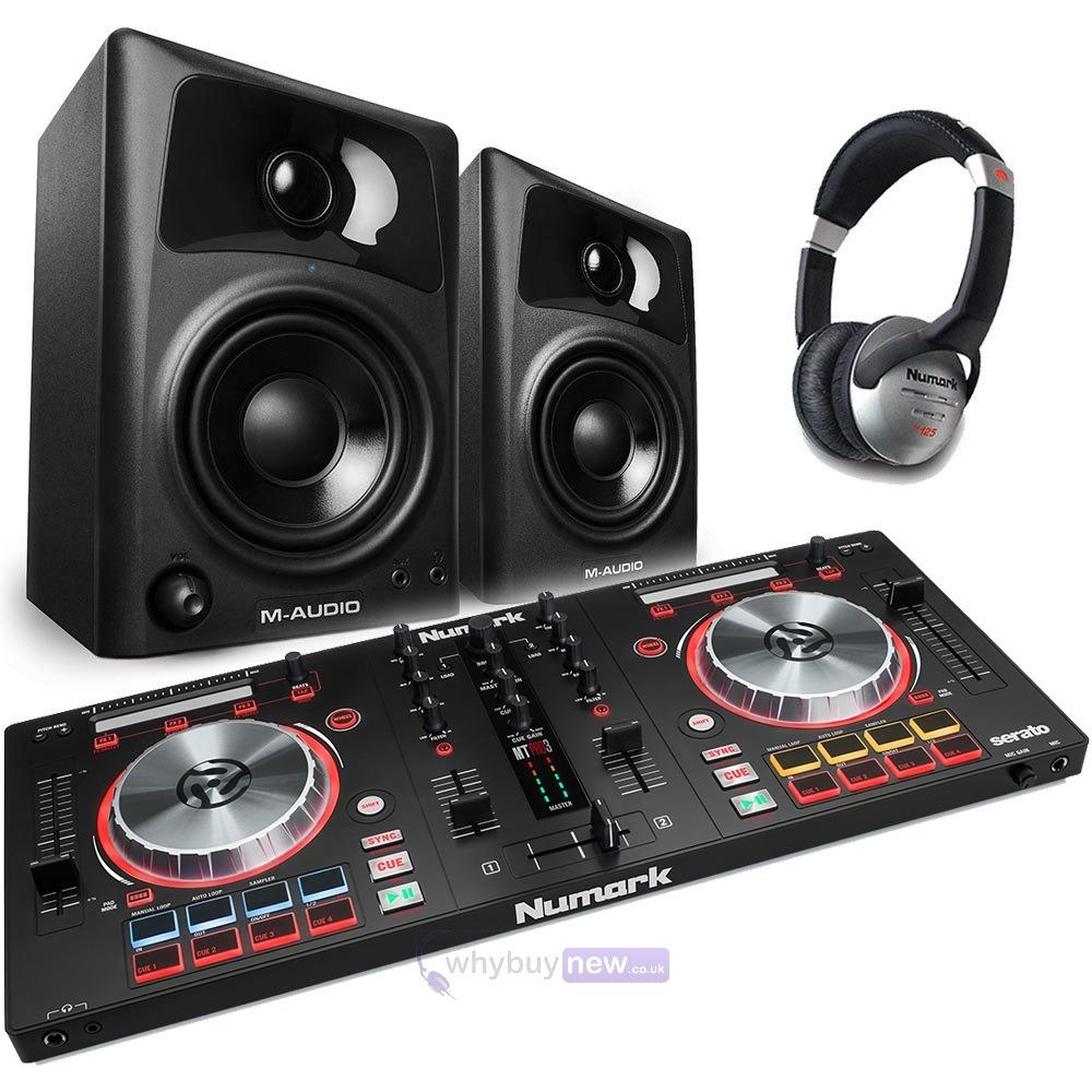 Numark Mixtrack Pro 3 + M-Audio AV42 + HF125 Headphone Package