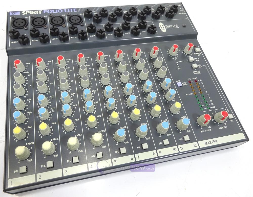 Wonderlijk Soundcraft Spirit Folio Lite 12 Channel Mixer | WhyBuyNew NG-38