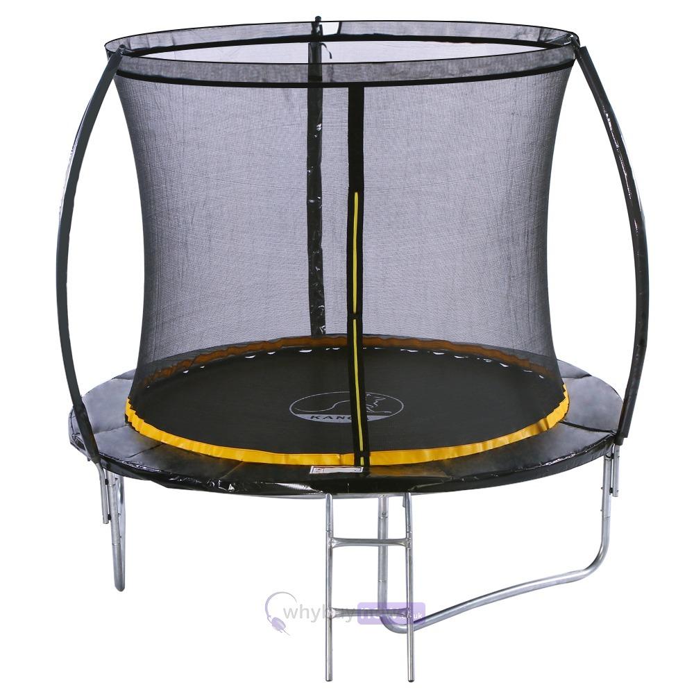 Kanga 8ft Trampoline W Enclosure Amp Ladder Whybuynew