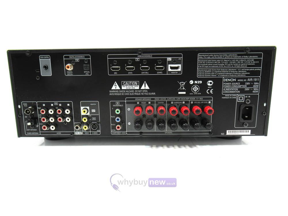 Denon AVR-1911 AV Surround Receiver | WhyBuyNew