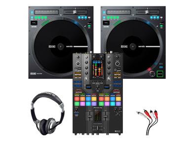 Rane TWELVE MKII (x2) + Pioneer DJM-S11 SE with Headphones + Cable