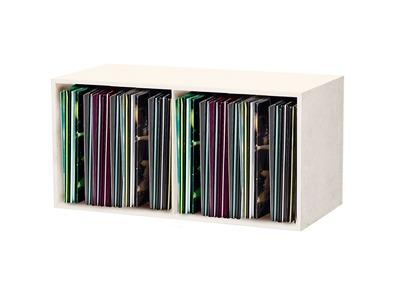 """Glorious DJ 12"""" Storage Record / Vinyl Box 230 White"""
