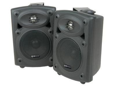 QTX Sound QR5B Stereo Speakers Black PAIR
