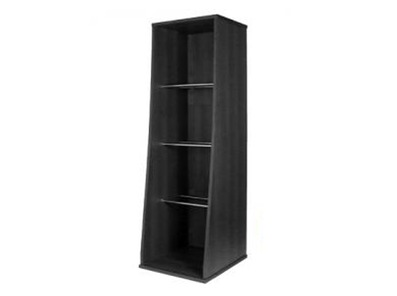 Sefour Vinyl Storage Tower Jet Black