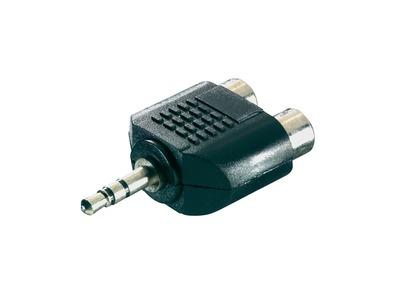 3.5mm Stereo Jack plug to 2 x RCA Phono Sockets