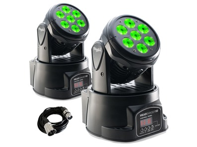 2x Stagg Head Banger 10 Moving Heads