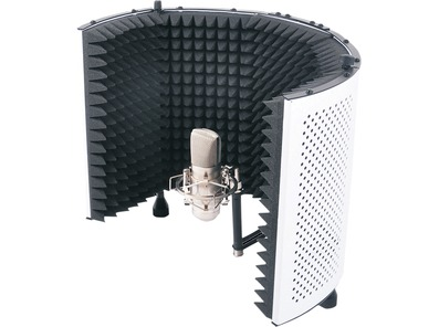 SoundLab Studio Microphone Reflexion Screen White