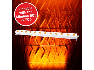 LEDJ Slimline 12Q5 RGBA Batten (White Housing)