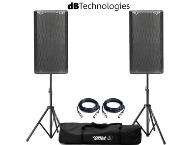 dB Technologies Opera 15 Pair with Stands and Cables