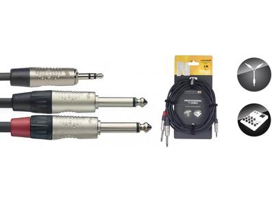 Stagg Stereo Mini 3.5mm Plug / 2 x Mono 6.3mm Jack