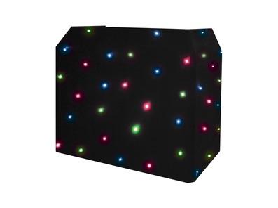 Equinox DJ Booth Quad LED Starcloth System Black Cloth
