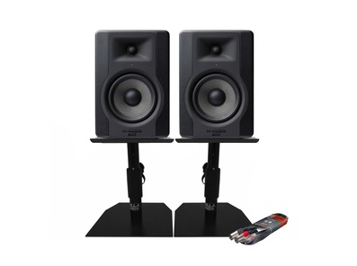2x M-Audio BX5 D3 with GSM-50 Stands & Cable