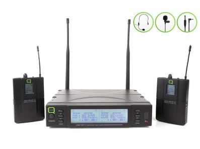 Q-Audio QWM 1960 V2 BP UHF Dual Channel