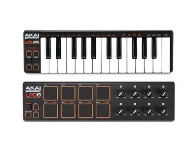 Akai Professional LPK25 with LPD8 USB MIDI Controller Bundle