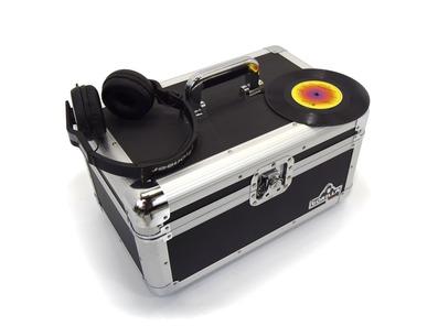 "Gorilla 200pcs 7"" Singles Vinyl Records Flight Storage Carry Case"