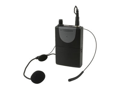 QTX Neckband Mic + Beltpack for QRPA and QXPA