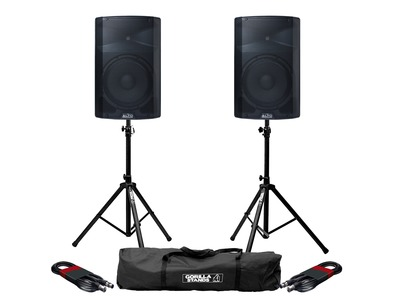 Alto TX212 (Pair) with Stands & Cables