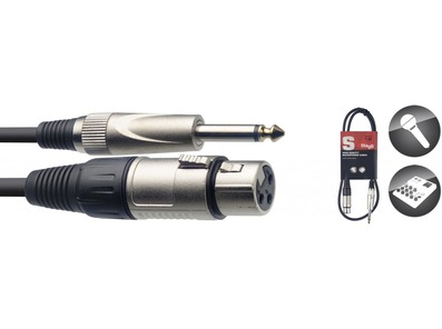 Stagg Female XLR to Mono Jack Cable