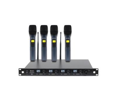 W Audio DQM 600H Quad Handheld UHF Radio Microphone System