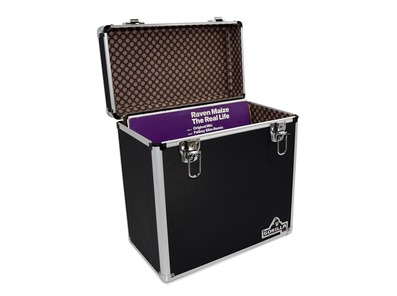 """Gorilla LP50 12"""" Vinyl Storage Case Box (Black)"""
