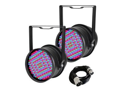 2x Equinox LED Par 64 with DMX Cable