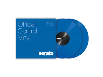 Serato Standard Colours 12 inch Control Vinyl (Pair) - Blue