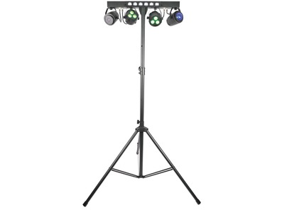 QTX Stage Bar - LED PAR Bar With FX, Laser and UV/Strobe